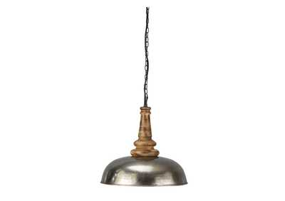 Image for Joziah Antique Silver Finish Metal Pendant Light
