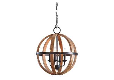 Image for Emilano Black/Natural Wood Pendant Light