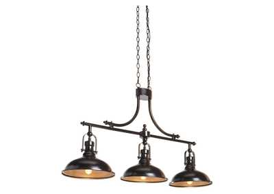 Image for Joella Bronze Finish Metal Pendant Light
