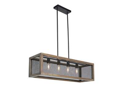 Image for Jodene Brown/Black Wood Pendant Light