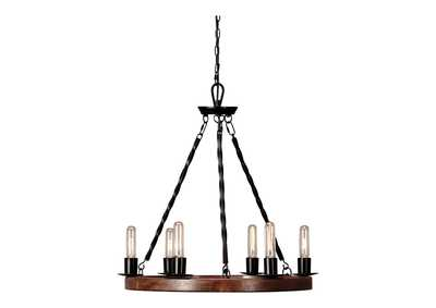 Image for Plato Brown/Black Wood Pendant Light