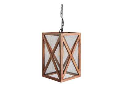 Jodene Brown Wood Pendant Light