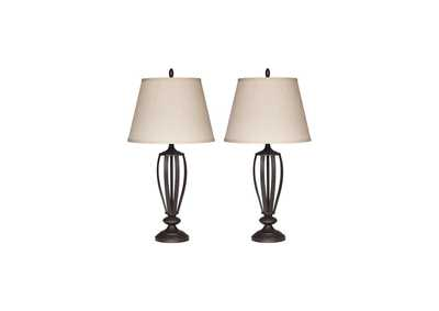 Mildred Bronze Metal Table Lamp (Set of 2)