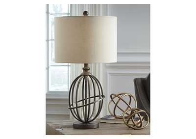 Manasa Bronze Metal Table Lamp,Signature Design By Ashley