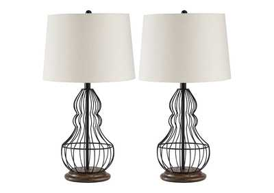 Image for Maconaque Black Table Lamp (Set of 2)