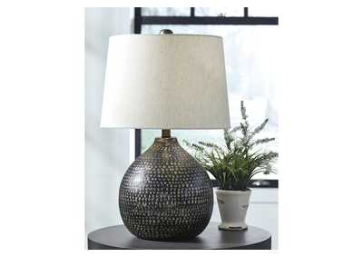 Maire Black/Gold Finish Metal Table Lamp,Signature Design By Ashley