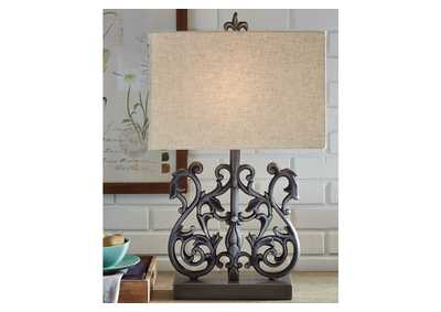 Capper Silver Table Lamp