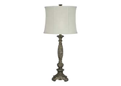 Image for Alinae Antique Gray Poly Table Lamp