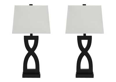 Image for Amasai Black Poly Table Lamp (Set of 2)