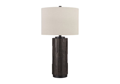 Makya Black Poly Table Lamp (Set of 2)