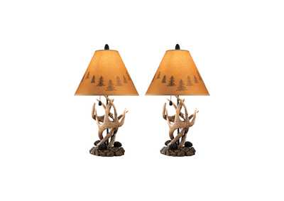 Derek Brown Poly Table Lamp (Set of 2)