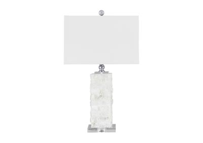 Malise White Alabaster Table Lamp