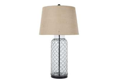 Image for Transparent Glass Table Lamp