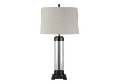 Talar Clear/Bronze Finish Glass Table Lamp