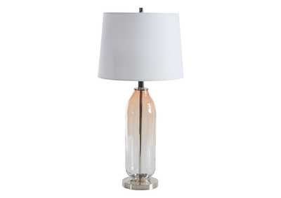 Image for Sheyla Clear/Pink Table Lamp