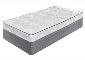 6 Inch Bonell Twin Mattress w/Foundation