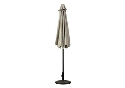 Image for Beige Medium Auto Tilt Umbrella and Base