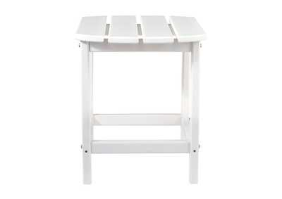 Sundown Treasure White End Table,Outdoor By Ashley