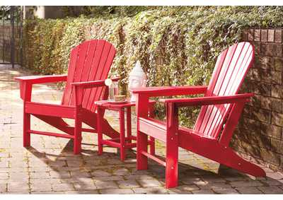 Sundown Treasure Red Adirondack Chair,Outdoor By Ashley
