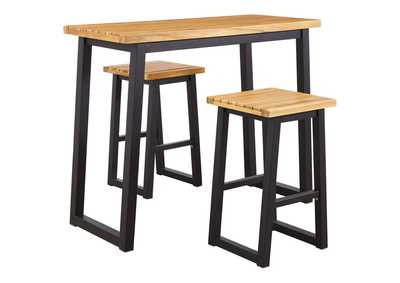 Image for Town Wood Outdoor Counter Table Set (Set of 3)