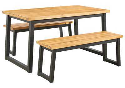 Image for Town Wood Outdoor Dining Table Set (Set of 3)