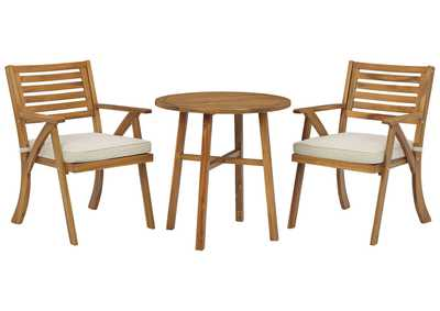 Image for Vallerie Outdoor Chairs with Table Set (Set of 3)