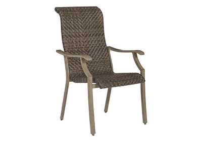 Windon Barn Brown Arm Chair (Set of 4)