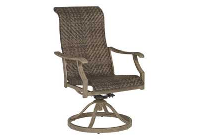 Image for Windon Barn Brown Swivel Chair (Set of 2)