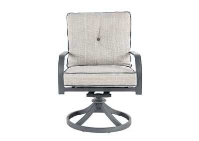 Donnalee Bay Dark Gray Swivel Lounge Chair (Set of 2)