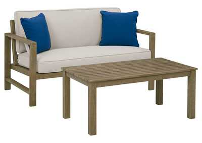 Image for Fynnegan Outdoor Loveseat with Table (Set of 2)