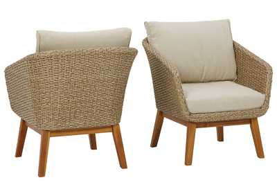 Image for Crystal Cave Outdoor Lounge Chair with Cushion (Set of 2)