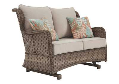 Image for Clear Ridge Glider Loveseat with Cushion