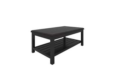Castle Island Dark Brown Rectangular Cocktail Table