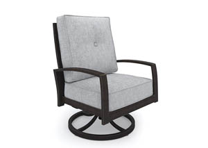 Image for Castle Island Dark Brown Swivel Lounge Chair