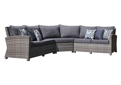 Image for Salem Beach Gray 3 Piece Sectional