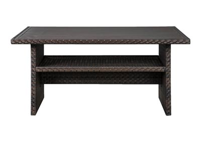 Image for Easy Isle Dark Brown/Beige Multi-Use Table