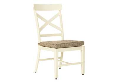 Image for Preston Bay Antique White Chair with Cushion (Set of 2)