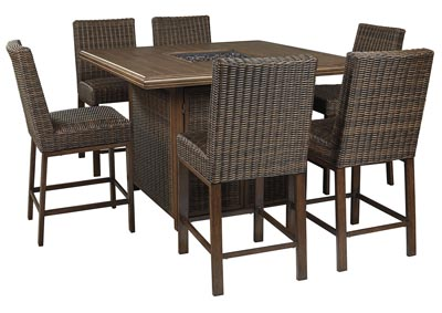 Image for Paradise Trail Brown Bar Table w/6 Barstools