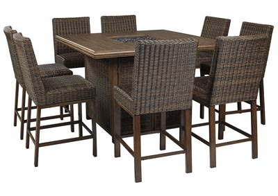 Image for Paradise Trail Brown Bar Table w/8 Barstools