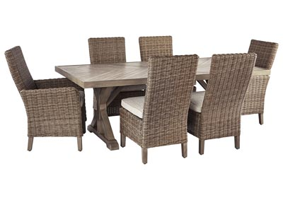 Image for Beachcroft Beige Dining Table w/4 Side Chairs & 2 Armed Chairs