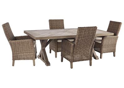 Image for Beachcroft Beige Dining Table w/4 Side Chairs