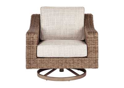 Image for Beachcroft Beige Swivel Lounge Chair