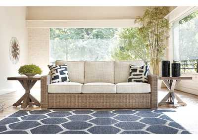 Beachcroft Beige Sofa with Cushion,Outdoor By Ashley