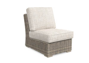 Image for Beachcroft Beige Armless Chair w/Cushion (1/CN)