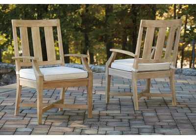 Image for Clare View Beige Arm Chair w/Cushion (Set of 2)
