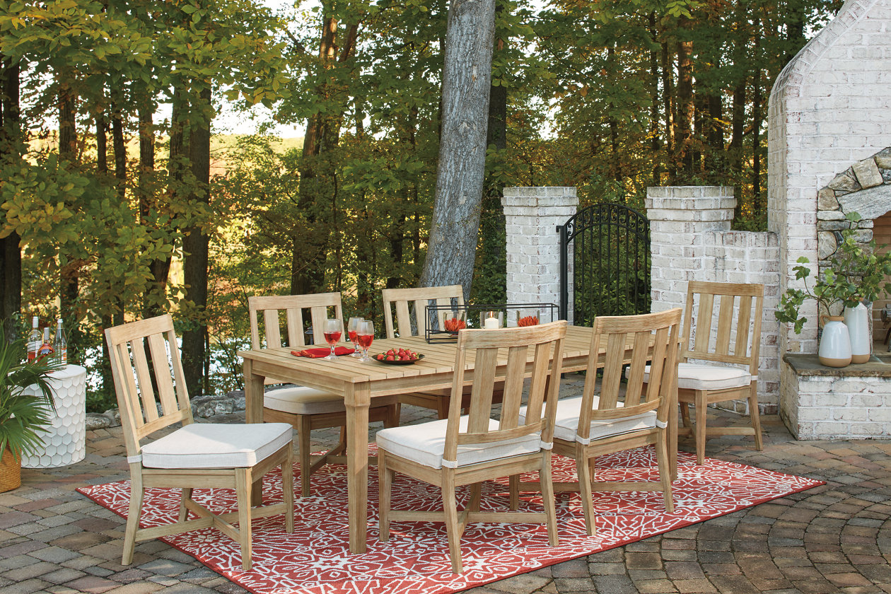 Clare View Beige Dining Table w/6 Chairs
