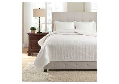 Dietrick Ivory Queen Quilt Set,Signature Design By Ashley