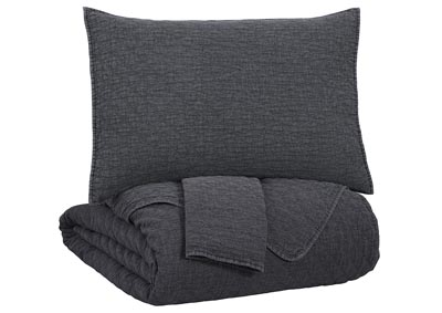 Image for Ryter Charcoal Queen Coverlet Set