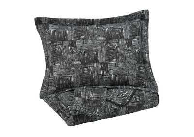 Image for Jabesh Black Queen Quilt Set