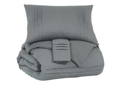 Image for Mattias Gray 3-Piece King Comforter Set